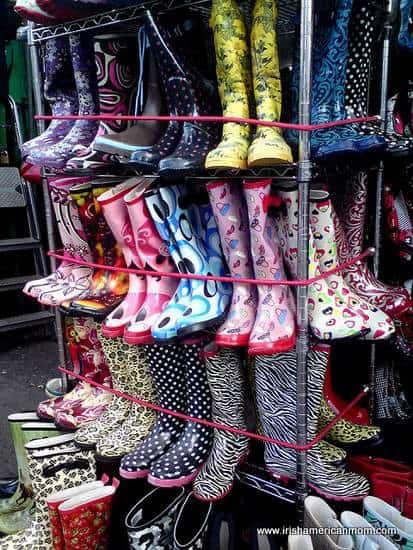 Fancy Wellies or Wellington Boots on Display