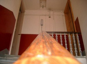 Looking up the bannister