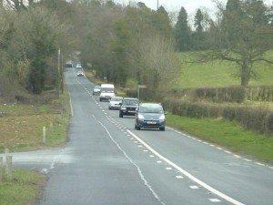 Cars on Irish Road