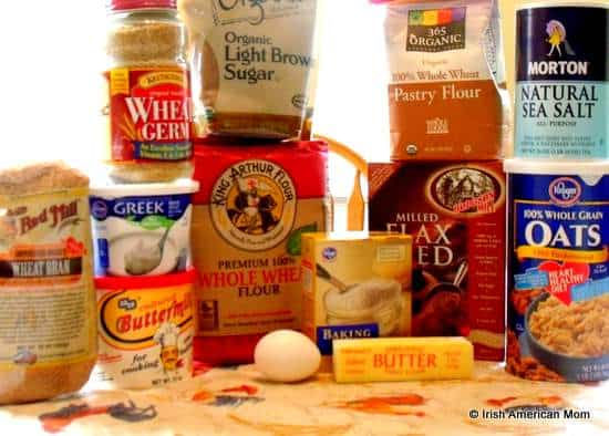 Ingredients for Irish brown bread