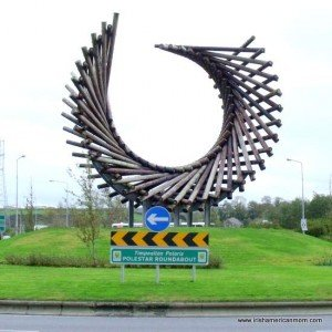 Irish roundabout art