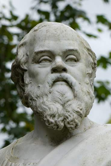 Bust of Greek philosopher Soccrates