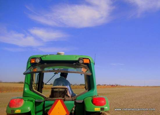 Tractor ride to the pumpkin patch