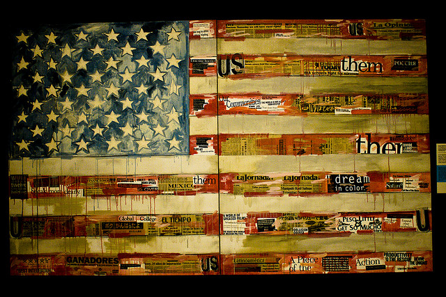 Them and US flag