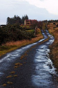 A small country or rural road in Ireland