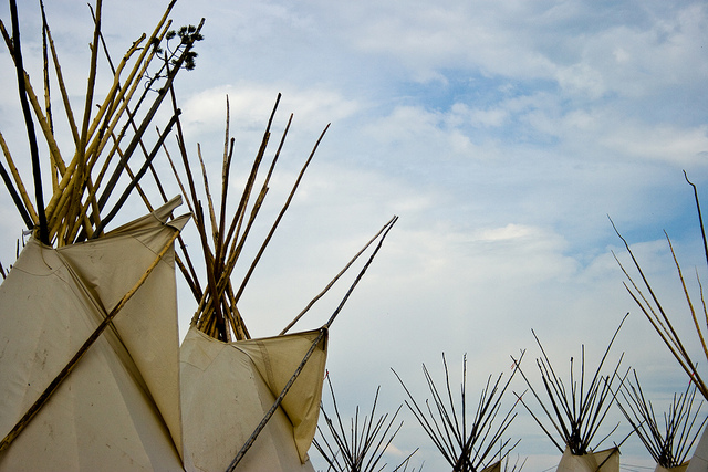 Towards the sky - tipis