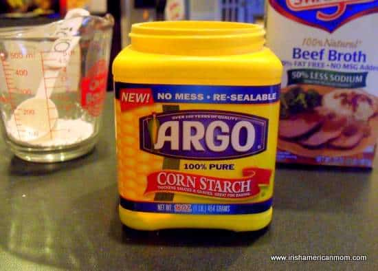 Corn starch and beef broth