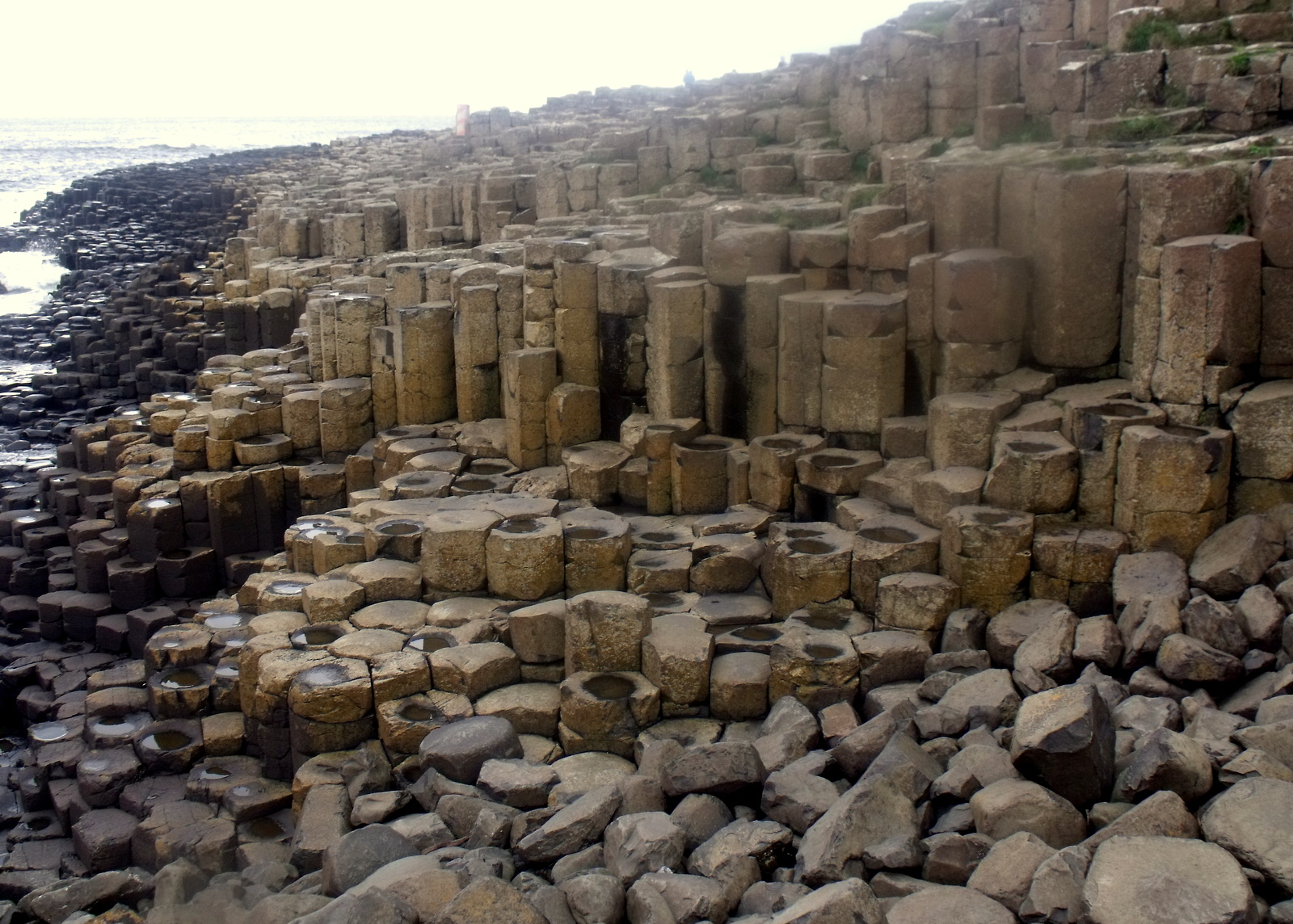 mosaic of rock pillars