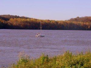 Late fall foliage on the Ohio River