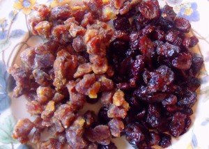 Dried fruit for Christmas Pudding