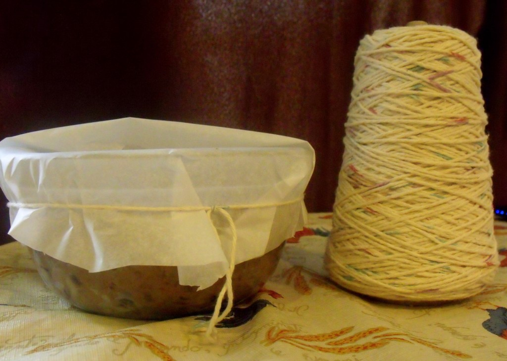 Twine string and parchment paper cover