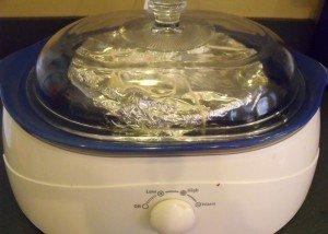 Plum pudding in crockpot