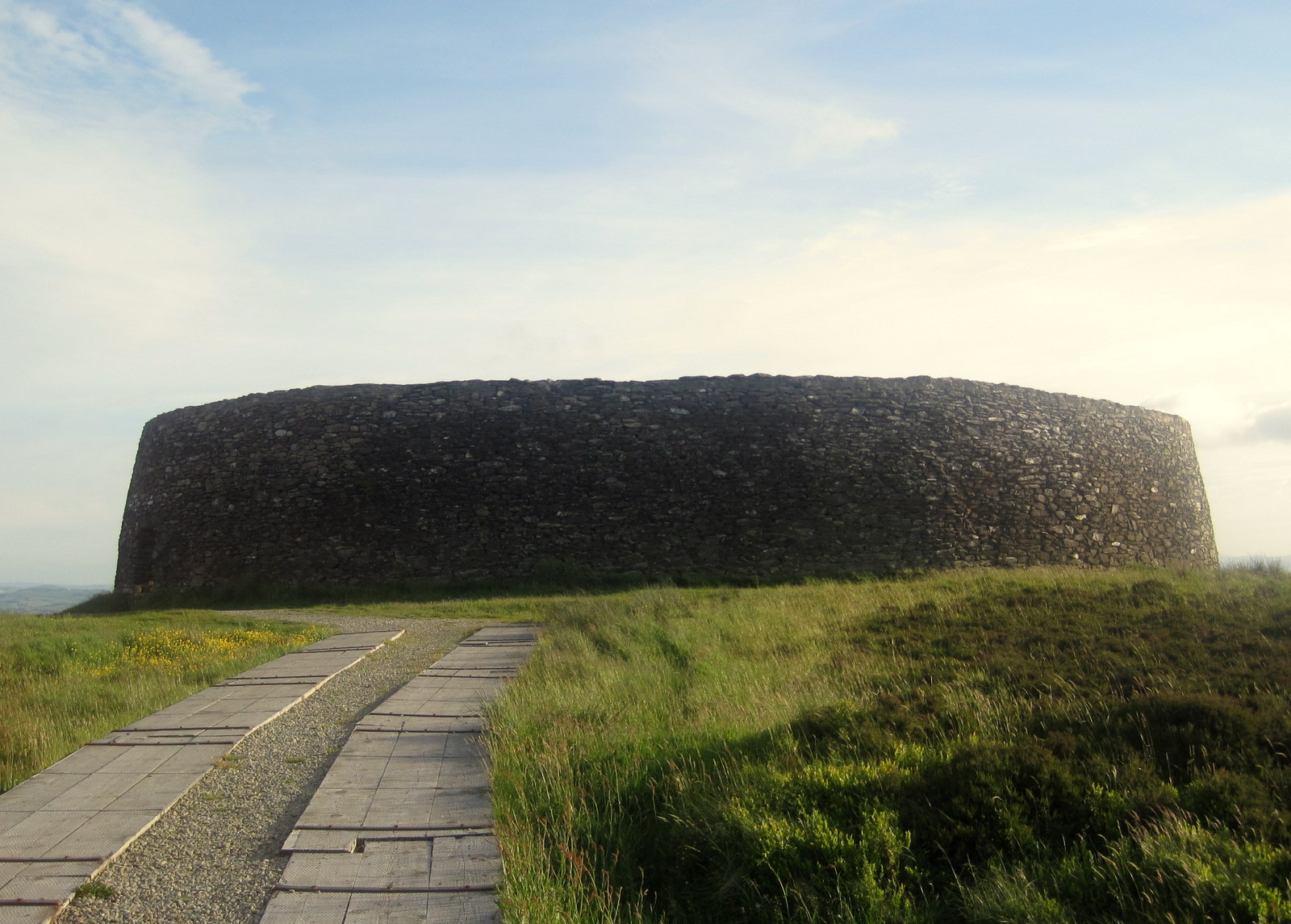 Stone fort with a path leading up to it
