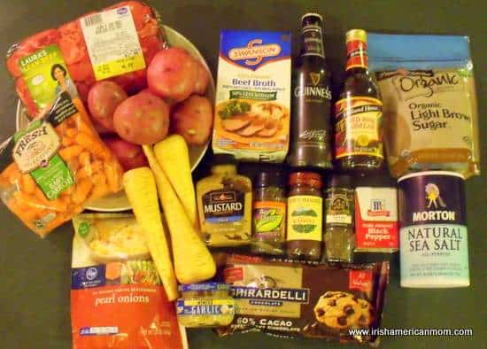 Ingredients for Guinness Stew