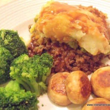 Shepherd's pie on a white plate