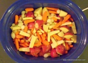 Vegetables for an Irish Guinness Beef Stew include potatoes carrots parsnips and pearl onions