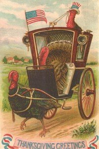 Vintage picture - turkey drawn carriage