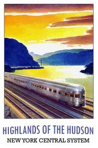 Vintage travel poster for the Hudson river New York Central System