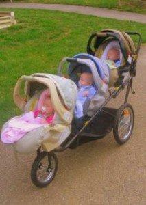 Triple decker stroller