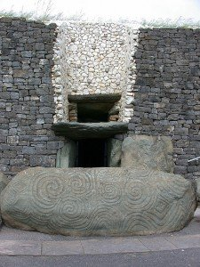 The light portal or window at the entrance to Newgrange tomb