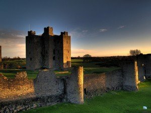 The walls around Trim Castle where Braveheart was filmed