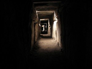 The inner passageway at Newgrange County Meath