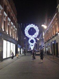 Christmas lights on Henry Street in Dublin