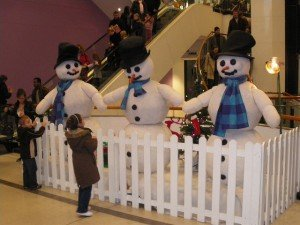 Christmas decorations at the Jervis Centre in Dublin