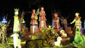 Mexican style nativity set