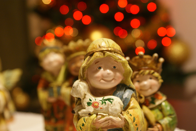 A Dublin Nativity Scene – Who Is Looking Over Holy Mary's Shoulder?