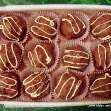 A giftbox of Irish Cream Chocolate Truffles