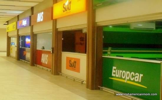 Car Rental Counters - Dublin Airport Ireland