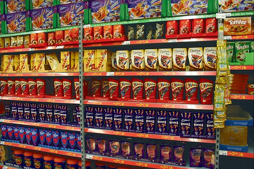 Chocolate and Selection boxes n display in a store