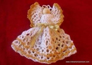 A homemade Christmas crochet angel