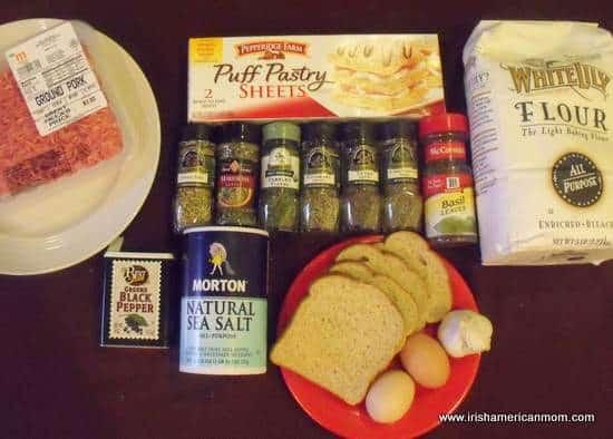 Ingredients for Sausage Rolls