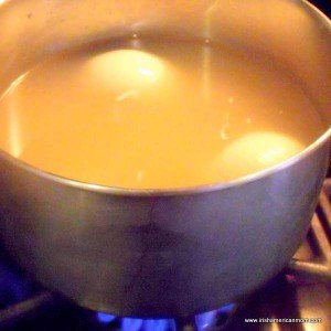White wine and stock for poaching chicken