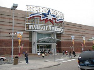 Entrance door to the mall of America