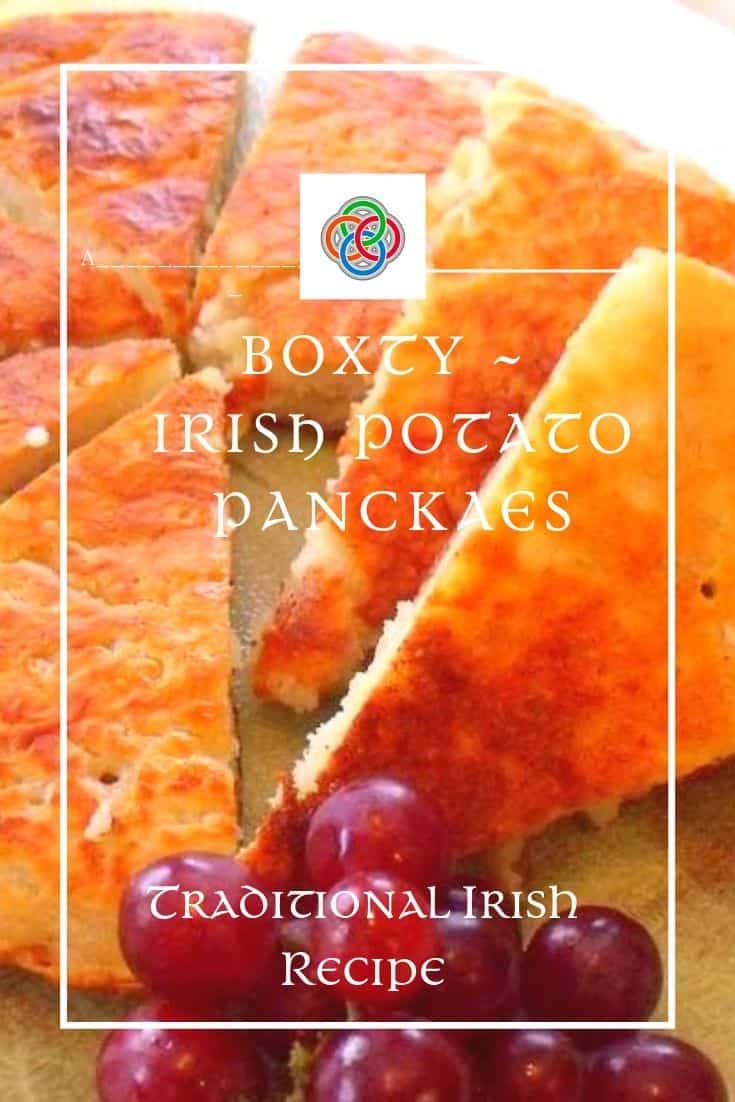 Boxty is a traditional Irish potato pancake made with mashed and grated raw potato