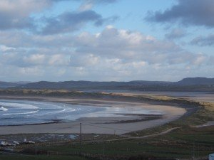 A sandy beach or strand in Donegal Ireland