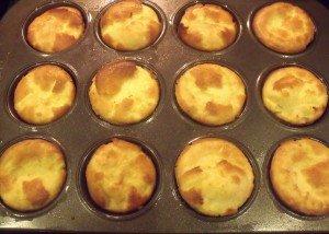Twelve freshly baked Yorkshire puddings