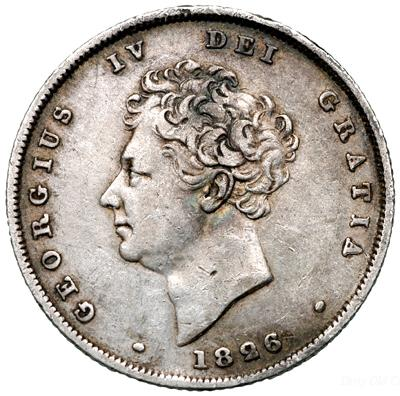 http://commons.wikimedia.org/wiki/File:George_IV_Shilling.jpg