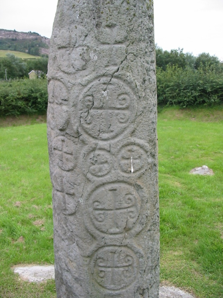 http://en.wikipedia.org/wiki/File:Kilnasaggart_inscribed_stone_County_Armagh_1.jpg
