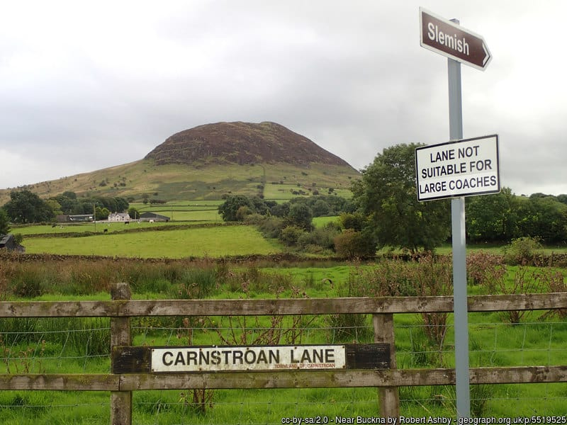 View of Slemish Mountain County Antrim an extinct volcano