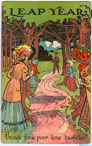 http://commons.wikimedia.org/wiki/File:PostcardLeapYearPATH1908.jpg