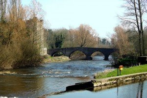 Arched bridge near a castle in Milford County Carlow