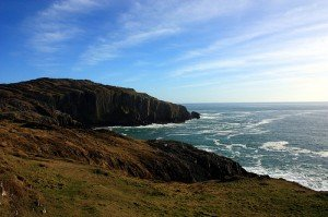The Irish coastline and cliffs near Baltimore County Cork