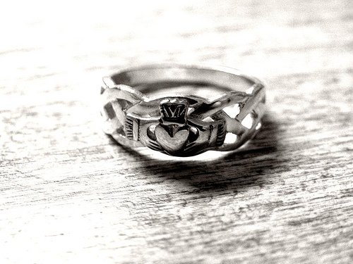 An Irish wedding ring or Claddagh