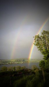 Double Rainbow over Inch Island in County Donegal