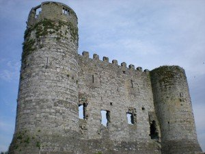 Ruined remains of Carlow Castle