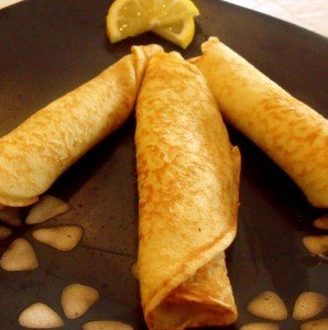 Irish pancakes for Pancake Tuesday are like crepes and served with lemon and sugar